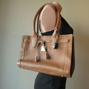 Brown leather Dooney and Bourke shoulder bag purse